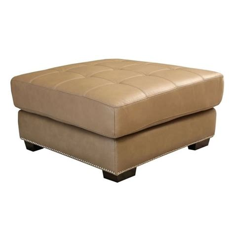 beige leather ottoman abbyson living margot leather ottoman in beige sk 2313 crm 4