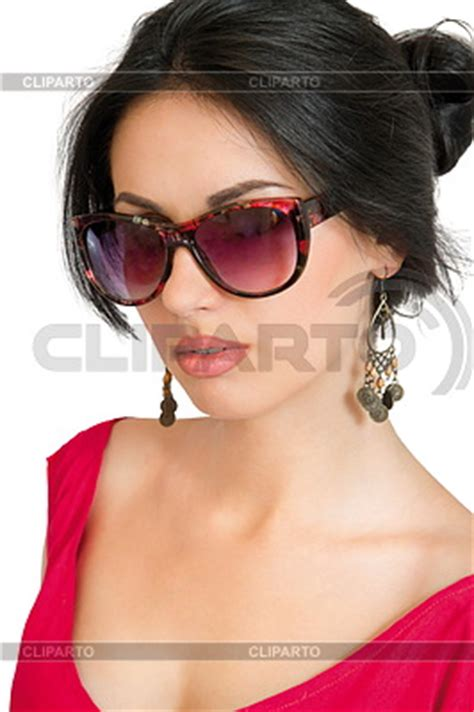 Фото в очках брюнетки