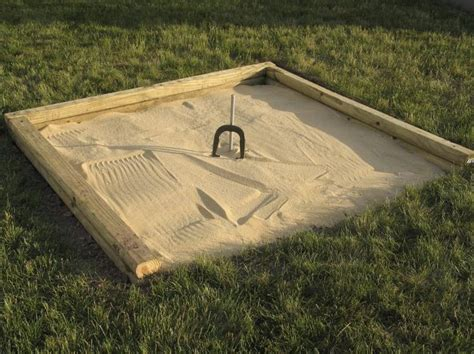 how to build a horseshoe pit in your backyard how to build a regulation horseshoe pit livestrong com