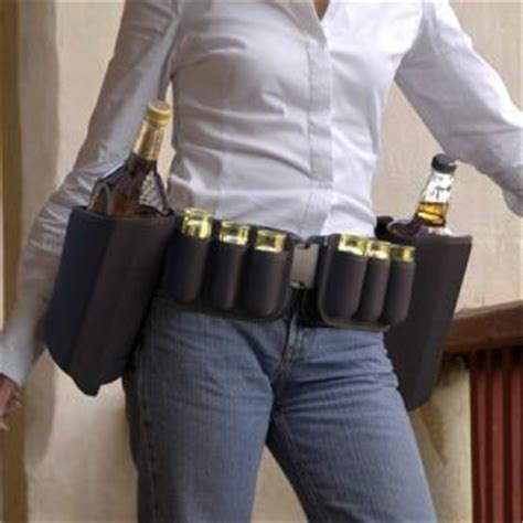 Booze Belt It Or It by Booze Belt Liquor Holster With Glasses