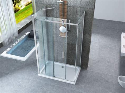 doccia tre lati box doccia cristallo 8 mm frameless 3 lati due fissi