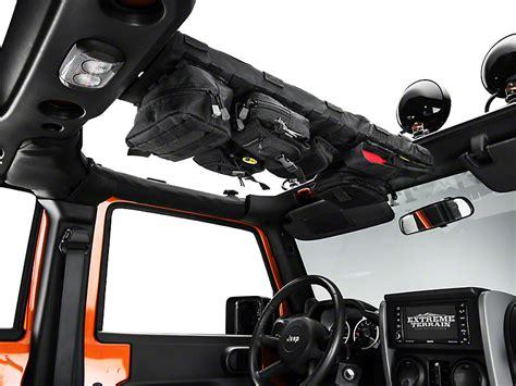 jeep wrangler overhead storage smittybilt gear wrangler overhead console black 5666001