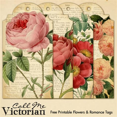 printable valentine flowers free printable flower romantic tags 8 5x11 pdf sheet