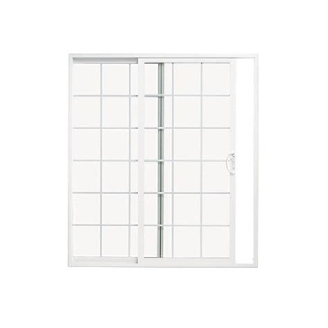 10 Sliding Glass Doors Shop Thermastar By Pella 70 75 In X 79 5 In Grilles Between The Glass Reversible White Vinyl