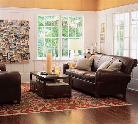 Pottery Barn Manhattan Sofa by Manhattan Leather Sofa Pottery Barn Canvas Bulletin Board For Youth Living Rooms