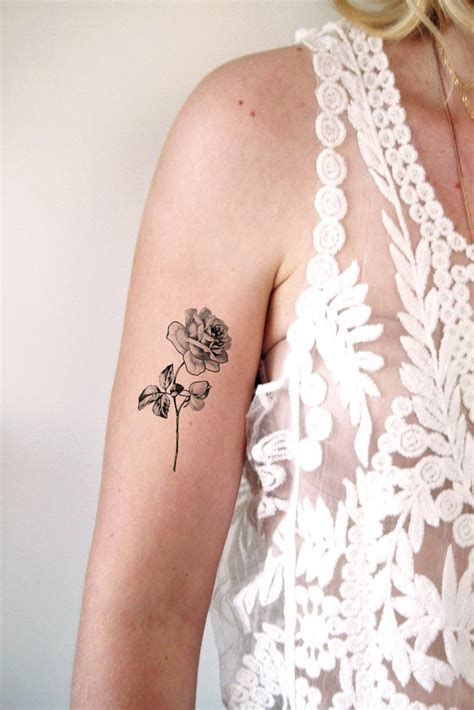 temporary rose tattoo 35 best floral inspiration images on