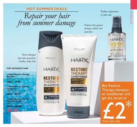 26642 Hairx Restore Therapy Shoo oriflame catalogue 10 july august 2016 uk