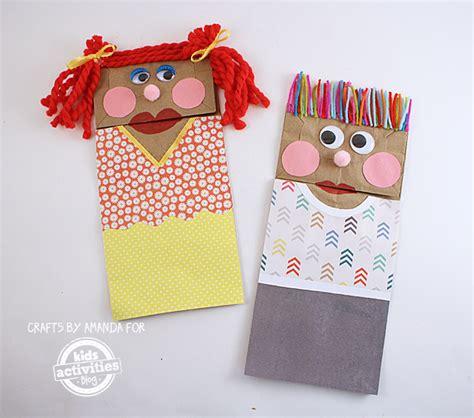 Make A Paper Bag Puppet - classic craft paper bag puppets