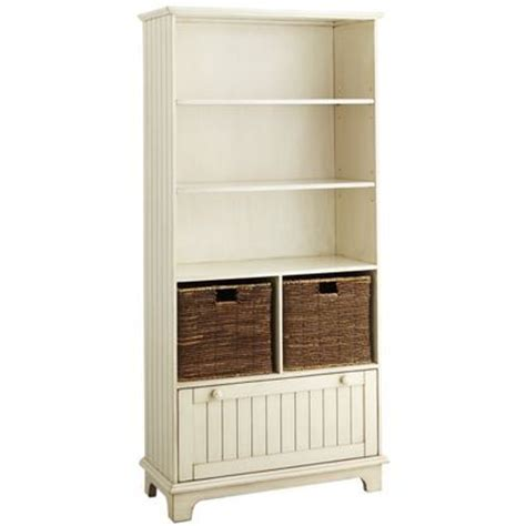 holtom bookcase antique white coastal decor