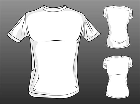 vector t shirt templates vector art graphics