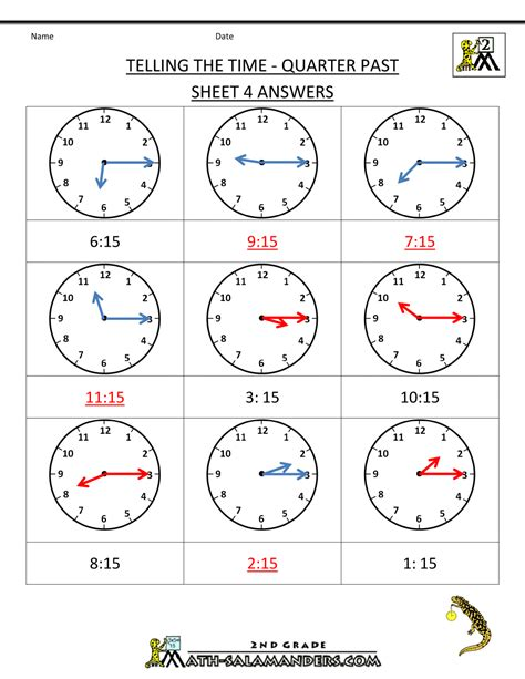 how to a three year clock worksheets quarter past and quarter to