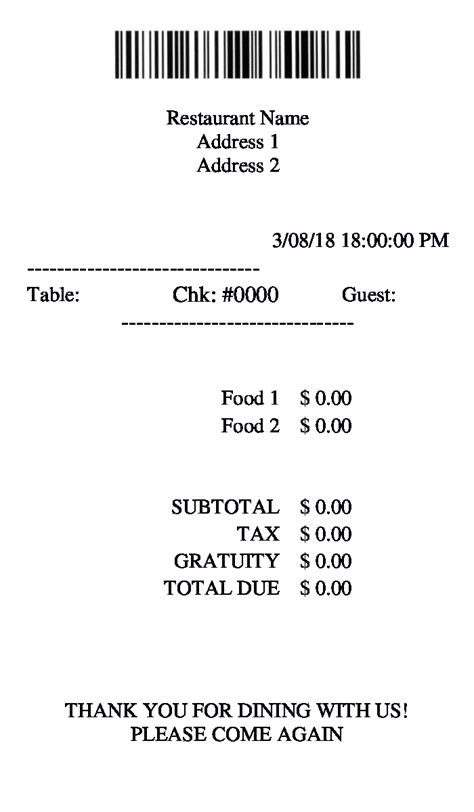 blank restaurant receipt template signature 9 restaurant receipt forms pdf doc excel