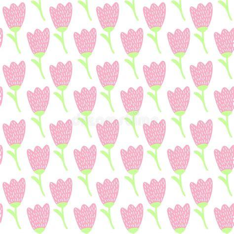 pattern pastel hd simple doodle pink tulip pattern cute pastel flower