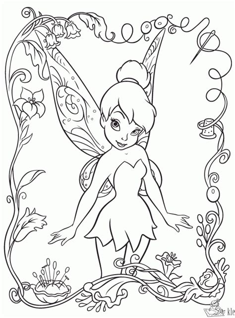 tinkerbell coloring pages adult kleurplaten tinkerbell kleurplaten kleurplaat nl
