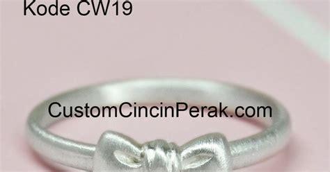 Cincin Single Wanita 2 model cincin perak untuk wanita kode cw19 cincin perak