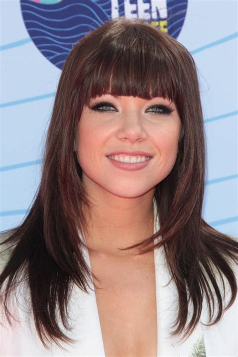 carly hairstyl wideo teenage long hairstyles with blunt bangs hair for women