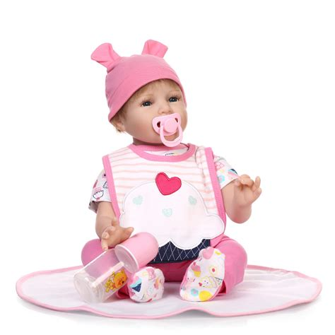 a gift that is soft ᐂ55cm soft silicone reborn baby baby smile doll birthday gifts present