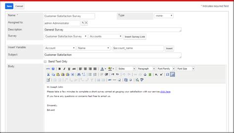 Survey Rocket Sugarcrm Inc Survey Email Template