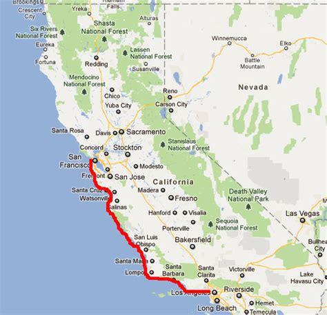 california map from san francisco to la estimer un temps de d 233 veloppement c est difficile