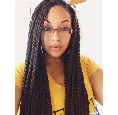 pics of chunky braided styles box braids chunky box braids and braids on pinterest