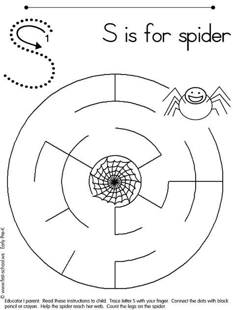 spider worksheets for kindergarten 10 best images of spider web printable worksheets preschool printable spider web
