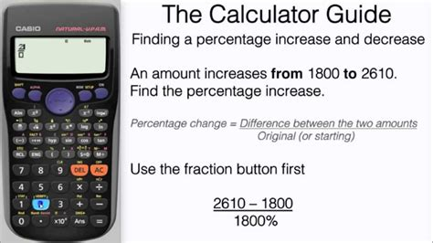 calculator percentage how to find a percentage increase decrease on calculator