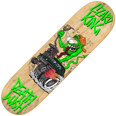 Deathwish Deck by Deathwish Skateboards Deathwish Lizard King Creeps Retro