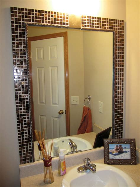 d i y bathroom mirror frame ideas decobizz