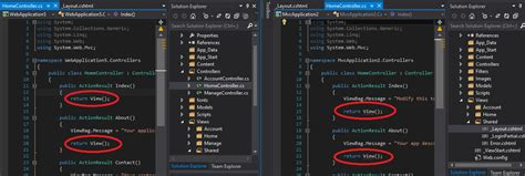 visual studio 2013 asp net mvc template intellisense do