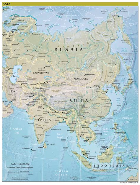 big map of asia large scale political map of asia with relief and major
