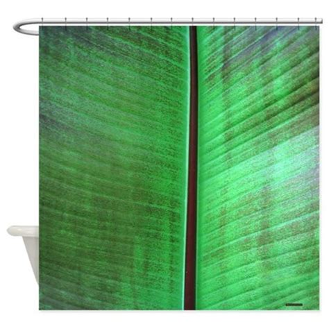tropical shower curtains banana leaf tropical shower curtain by rebeccakorpita