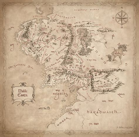 lord of the rings middle earth map lord of the rings middle earth map replica
