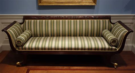 upholstery york file sofa attributed to duncan phyfe shop new york 1810