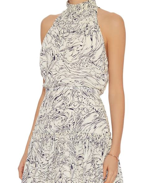 Hem Carlita 1 elizabeth and carlita wind print dress in black lyst