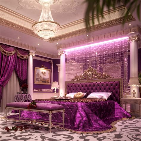 luxury bedroom scene 3d bedroom scene model
