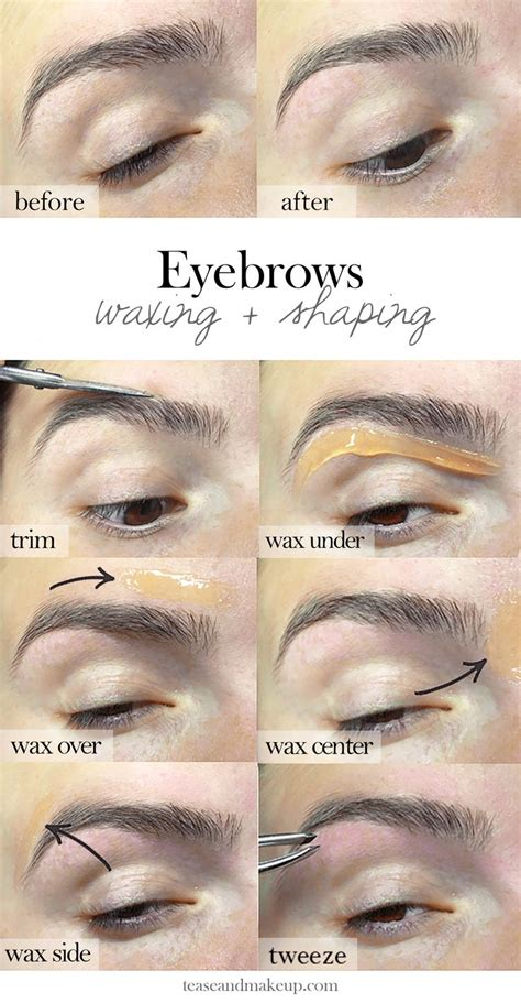 At Home Eyebrow Grooming by The 25 Best Eyebrow Wax Ideas On Black Lines
