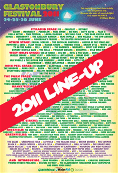 glastonbury festival line ups wikipedia the free the wombles confirmed for glastonbury 2011 tidy bag