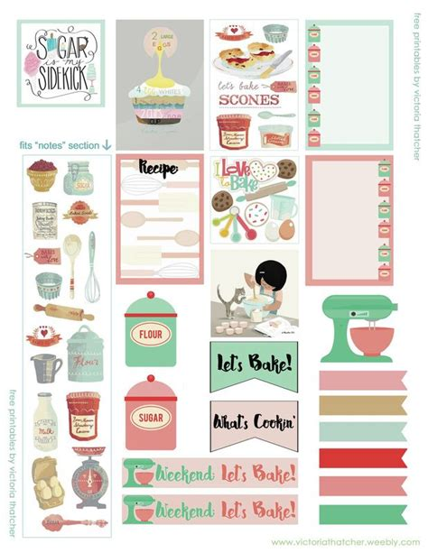 free printable kitchen planner agendas scrapbook para imprimir apexwallpapers com