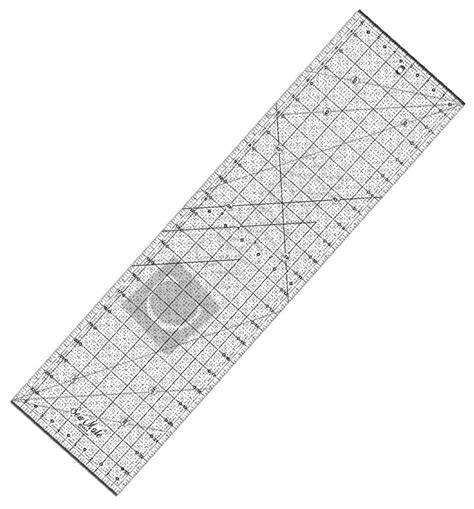 Quilt Ruler by Quilting Acrylic Ruler Mm Inches Sew Mate