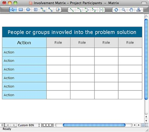 document distribution matrix template seven management and planning tools conceptdraw