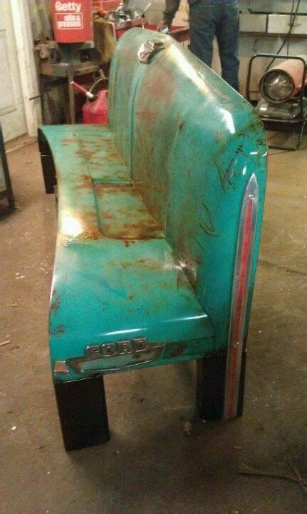 ford truck hood bench dad     sled