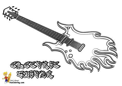 coloring pages electric guitar gritty guitar coloring free electric guitar
