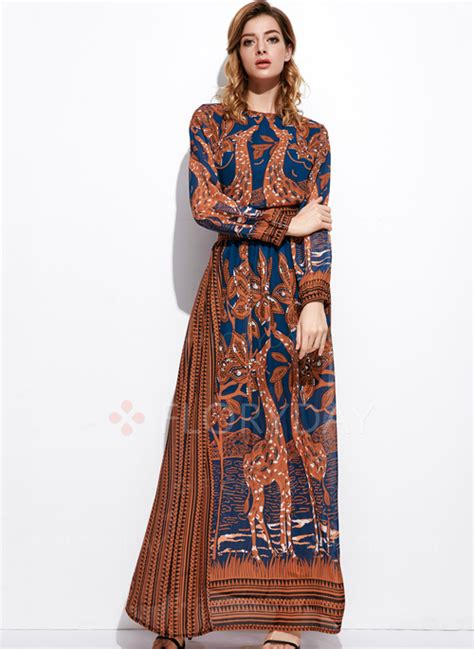 Maxi A Line By Irbah chiffon floral sleeve maxi a line dress floryday