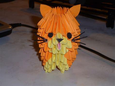 3d Origami Cat - 3d origami cat origami cats 3d origami