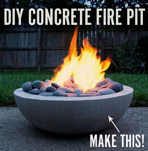 make your own firepit fiery diy make your own cool modern concrete pit