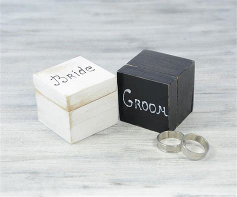 Wedding Ring Box For 2 Rings by White And Black Wedding Ring Bearer Boxes Engagement Ring