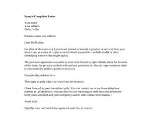 Business Letter Answering Complaint Sle Letter Of Complaint To Management Khafre