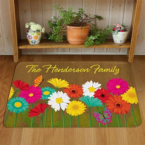 Flower Doormat - personalized doormats welcome mats personal creations