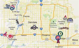 map of ballparks in arizona rangers 2012 stadium cactus league map