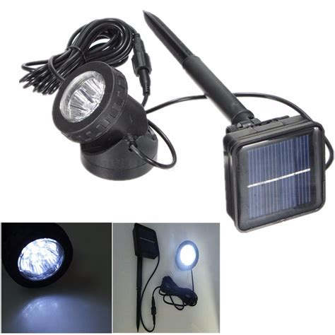Outdoor Spot Lights Solar Powered 6 Led Outdoor Garden Landscape Yard Lawn Spotlight Light L Alex Nld